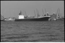 21322-5-18 Engels containerschip Flinders Bay aan de Wilhelminakade.