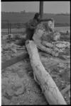 21336-2-20 Het Delta-beeld in Hellevoetsluis van de Joegoslavische kunstenaar Slavomir Miletic (op foto) is als gevolg ...
