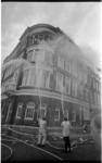 21372-3-17 Brand in kantoorgebouw van de rederij Koenigsfeld hoek Willemskade en Maasstraat (Scheepvaartkwartier- ...