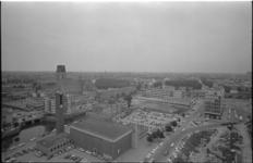 21444-3-6 Gezicht op de Nieuwstraat met het Cebecopand, de Hang met de Steigerkerk, Steiger, de Hoogstraat en de ...