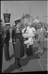 21471-1-33 Overdracht met ceremonie op scheepswerf Wilton Fijenoord in Schiedam van het vliegdekschip Karel Doorman aan ...