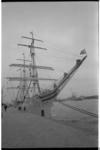 21495-5-29 Noorse opleidingsschip Statsraad Lehmkuhl aan de Parkkade.