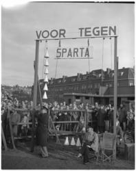 222 Scorebord bij de wedstrijd Sparta-Eindhoven met de stand 6-0.