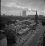 22227-2 Groot totaaloverzicht bouwplaats van uitbreiding museum Boijmans van Beuningen.