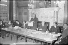 22490-3-11 Burgemeester W. Thomassen keert zich tijdens persconferentie fel tegen het grenswijzigingsplan van de ...