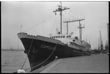 23439-5-43 Het weeerschip Cumulus aan de Parkkade.