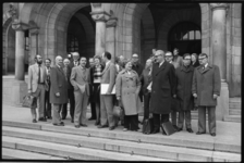 24634-7-3 Werkbezoek van politici van de Anti Revolutionaire Partij aan Rotterdam. In het midden prof. Christiaanse ...