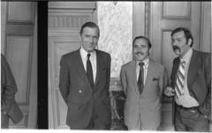 24736-5-43 Drie CDA-politici met van links naar rechts: Hajo Viersen, J.H. Christiaanse en Frans Jozef van der Heijden. ...