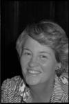 24965-5-7 Portret van Nel van der Pol-van den Dorpel, raadslid voor de VVD.
