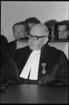 305192-35 Johannes George Levin Reuder, rechter en vice-president van de arrondissementsrechtbank te Rotterdam, tijdens ...