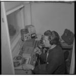 3162-1 Geluidsstudio van de ziekenomroep RANO aan het Koningin Emmaplein.