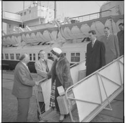 3171-2 Aankomst van het BBC-orkest met de veerboot in Hoek van Holland