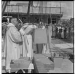 3183-1 Eerste steenlegging op de bouwplaats van nieuwe Sint-Dominicuskerk, de zogenaamde Citykerk, meer bekend als Het ...