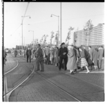 3295-2 Extra trams in centrum beschikbaar voor rit naar Feijenoordstadion waar een taptoe plaatsvindt.