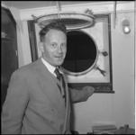 344 Ds. A.H. Algra met de Willem Ruys gerepatrieerd uit Borneo.