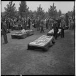3568 Uitgestalde producten van de volkstuinvereniging Streven naar Verbetering aan de Abraham van Stolkweg.