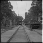 3588-3 Onderhoud aan straat en trambanen in de Witte de Withstraat richting Eendrachtsweg en Mathenesserlaan, in de ...