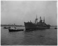 3617 Aankomst van het Braziliaanse marine-opleidingsschip Costodio de Mello.