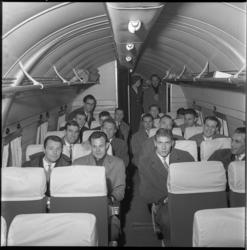 4011 Vertrek Sparta vanaf luchthaven Rotterdam naar Glasgow, in verband met de uitwedstrijd tegen de Glasgow Rangers.