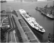 4242 Tanker 'Esso Amsterdam' afgemeerd in de Parkhaven.