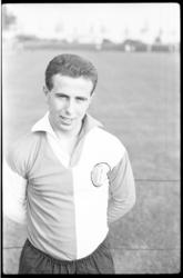 4415 Portret van Feyenoordspeler Frans Bouwmeester.
