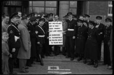 4550-1 Protest politiemannen voor meer geld.