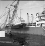 4831 Vrachtschip 'Lokoja Palm' heeft twee kleine binnenvaarttankers aan boord.
