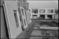 4870-1 Voor montage klaarstaande betonnen wanden van de skeletbouw.