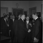 4896 De heer J.M.Pemmelaar tijdens zijn afscheidsreceptie als chef van de Sociale afdeling van de Dienst voor ...