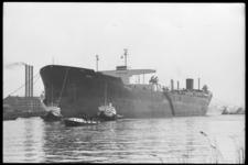 5073 Aankomst tanker Frisia op weg naar RDM voor een onderhoudsbeurt .