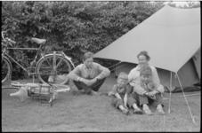 5407 Noorse kampeerders op camping aan de Kanaalweg.