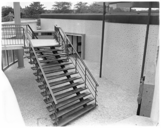 585 Trappen bij Dioramagebouw in Diergaarde Blijdorp.