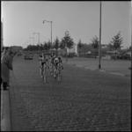 606 Kopgroep van de wielerwedstrijd Olympia's Tour over de Schiedamsedijk, tijdens de etappe van Ossendrecht naar Wassenaar.