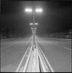 6179 Middenbermverlichting boven de vangrail van rijksweg 13 bij Overschie, richting Kleinpolderplein.
