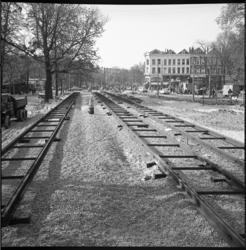 6501 Nieuwe tramrails aangelegd richting Eendrachtsplein/Mauritsweg/Westersingel en Oude- en Nieuwe Binnenweg.
