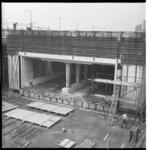 6506-2 Metrotunnel in aanbouw op de Weena. Rechts bovenin klein stukje van Groothandelsgebouw.