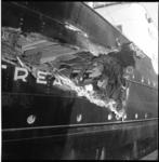 6517 Voorkant van beschadigde Noorse schip Astrea.