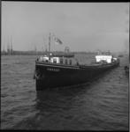 6681 Rijnschip 'Parkkade' van Rijnvaart Mij., Rotterdam, op de Nieuw Maas ter hoogte van de Parkkade.