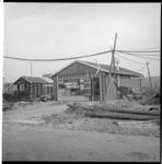 6701-1 Exterieur van de Spar-noodwinkel in de nieuwe wijk Prins Alexanderpolder.