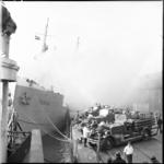 671-1 Brand aan boord van het Duitse vrachtschip Tanga, gelegen in de Merwehaven.