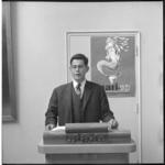 6745-1 Persconferentie van president van de lustrumcommissie J. Wertheim van het Rotterdams Studenten Corps, in verband ...