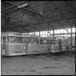 6906 Streekbussen van 'De Twee Provinciën' in de remise in verband met landelijke staking.
