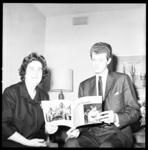 6944 Pianist Harvey Lavan Van Cliburn, Jr., welkom geheten in het Hilton Hotel.