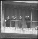 7006-1 Festiviteit met het blaaskwartet van het Rotterdams Philharmonisch Orkest naar aanleiding van het bereiken van ...