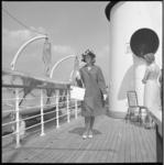 7057-2 Varende modeshow op de rondvaartboot Erasmus.