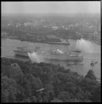 7159 Feestelijke aankomst van het eerste nucleair aangedreven, Amerikaanse koopvaardijschip ter wereld, de Savannah, ...