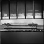 7452 Expositie over de metrobouw in voorlichtingspaviljoen op het Weena.