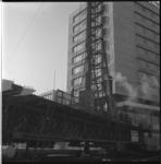 7518 Heiwerkzaamheden door bouwbedrijf Nederhorst bij Hofplein ter hoogte van Hilton Hotel i.v.m. metrobouw.