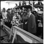 7582-1 Doop van het Liberiaanse schip 'President William V.S. Tubman' op de scheepswerf Verolme te Alblasserdam door ...