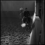 7765-2 Bereden politie oefent, inspecteur A. Zee op paard Marco.